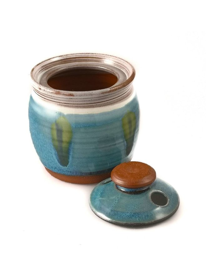 Garlic Pot ceramic with lid