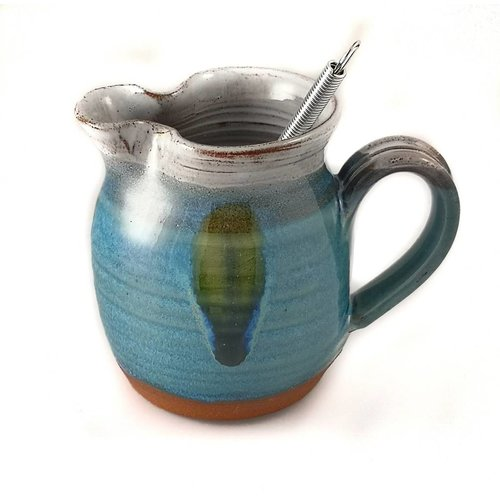 R B Ceramics Salad Dressing Jug with Whisk 1