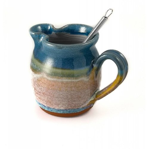 R B Ceramics Salad Dressing Jug with Whisk 2