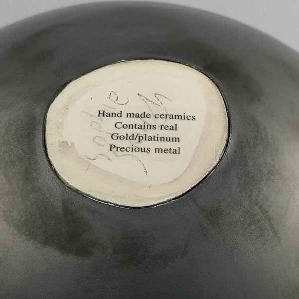 Black Bird with  Star small ceramic bowl 002
