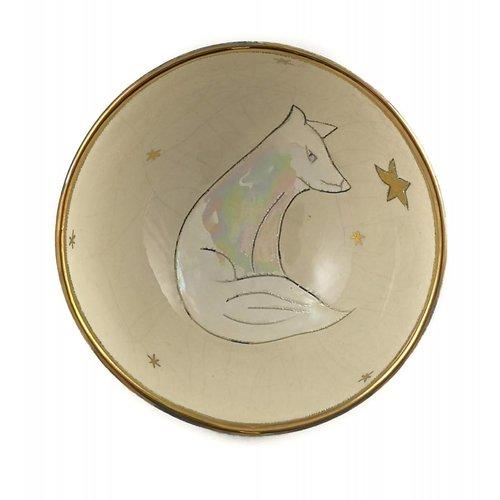 Sophie Smith Ceramics Tazón de cerámica pequeño Fox con estrella 005