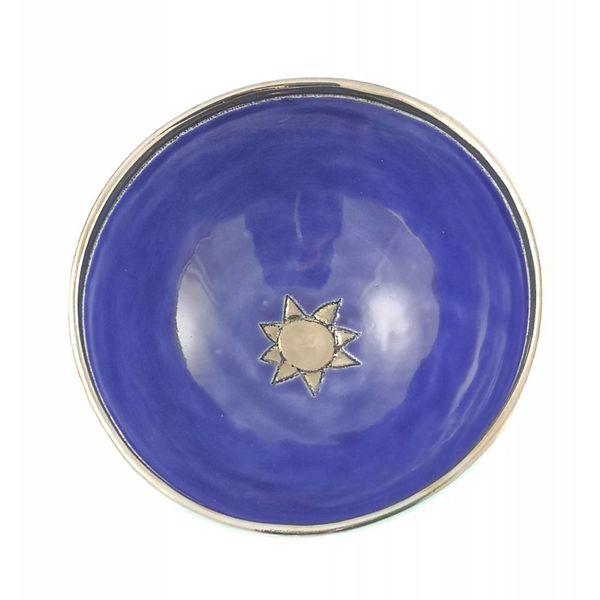 Cuenco pequeño de cerámica azul estrella 007