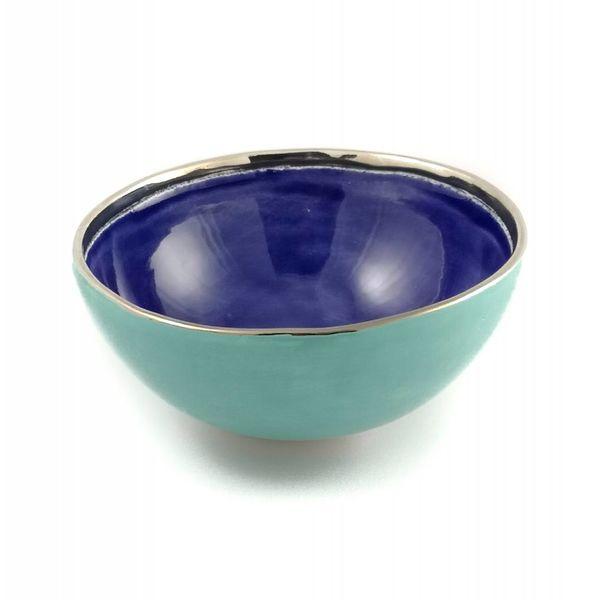Stern kleine blaue Keramikschale 007