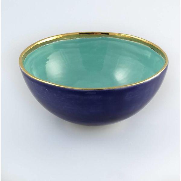 Stern kleine türkisfarbene Keramikschale 008