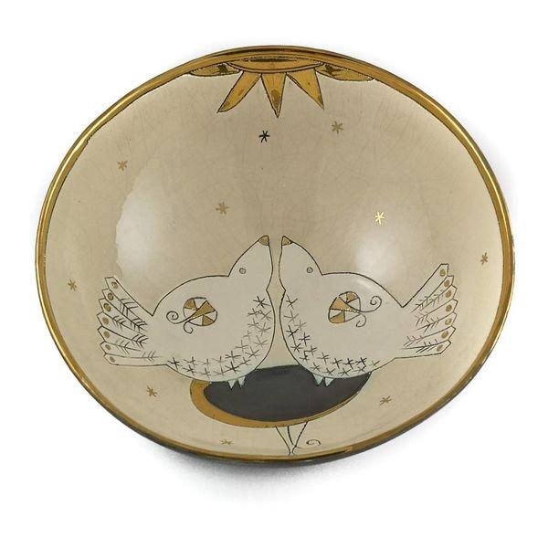 Zwei Vögel und große Keramikschale 010