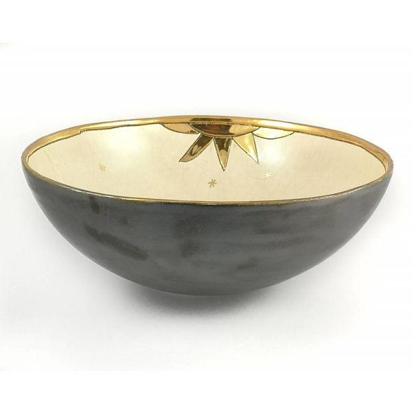Cuenco de cerámica grande dos pájaros y sol 010