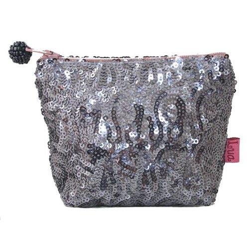 LUA Mini bolso con cremallera de lentejuelas