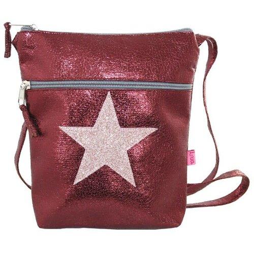 LUA Metalic Glitter Star Cross Body große Geldbörse