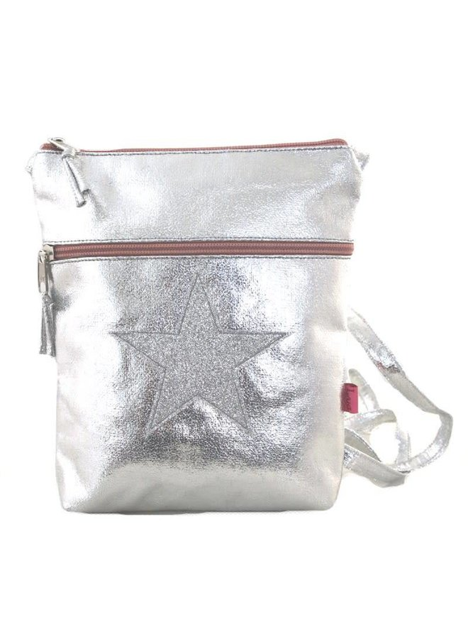 Metalic Glitter Star Cross Body große Geldbörse