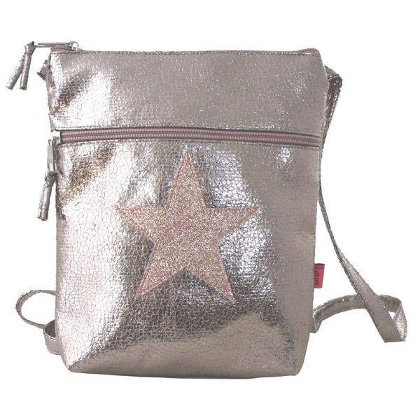 Metalic Glitter Star cross body large purse