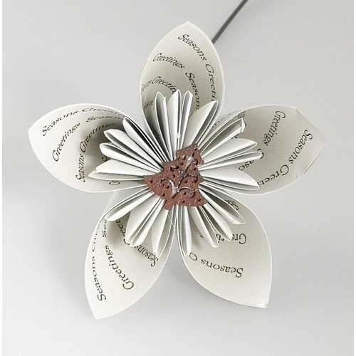 Paris Cheetham Seasons greetings silver paper flower with tree 26