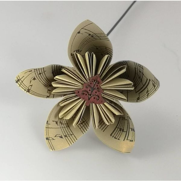 Musical gold paper flower with tree 35