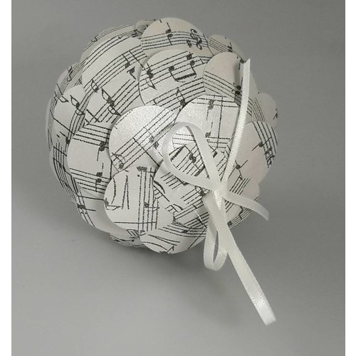Paris Cheetham Musical silver paper bauble 37
