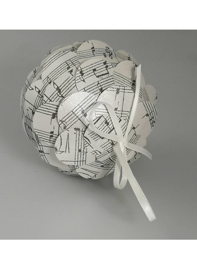 Musical silver paper bauble 37