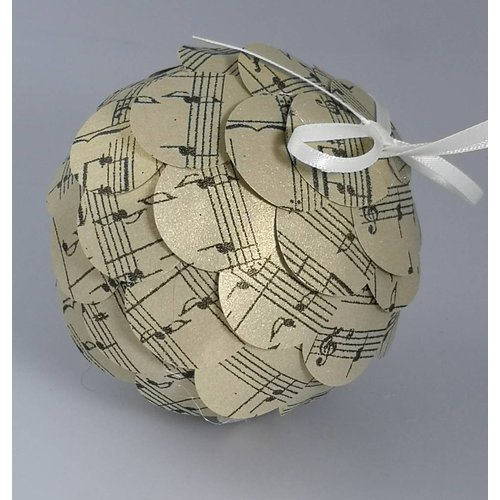 Paris Cheetham Musical gold paper bauble 38