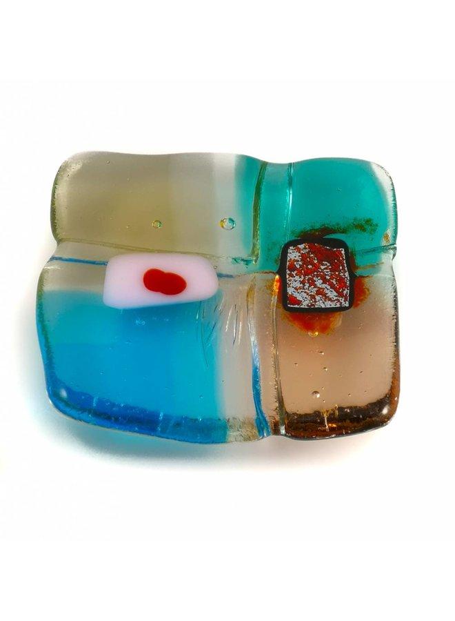 Tiny Trinket shallow glass dish 06