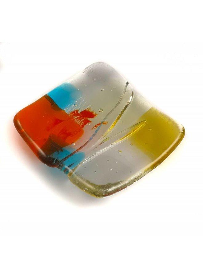 Tiny Trinket shallow glass dish 08
