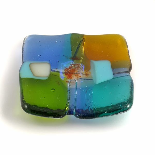 Tiny Trinket shallow glass dish 07