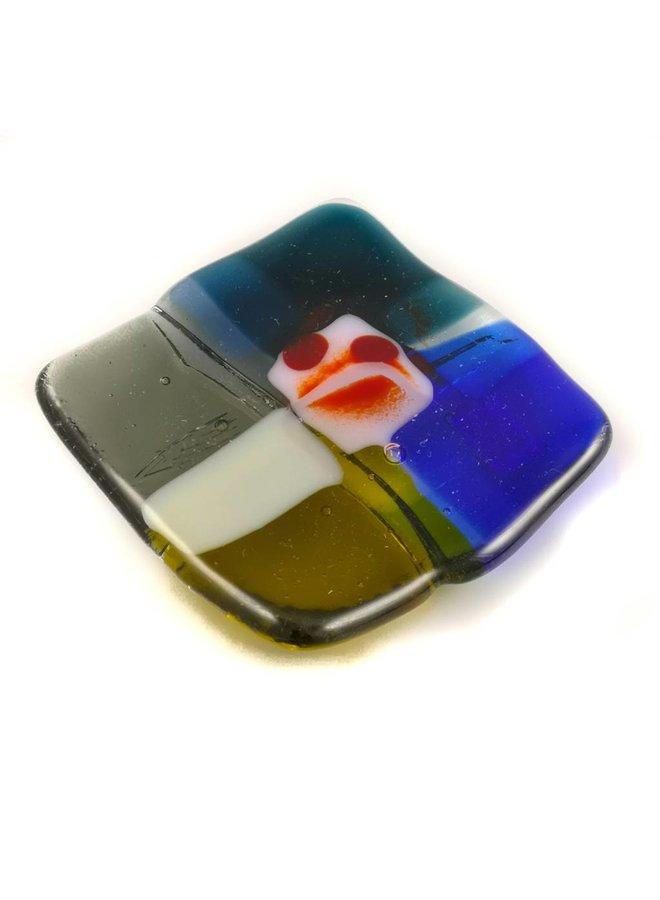 Tiny Trinket shallow glass dish 09