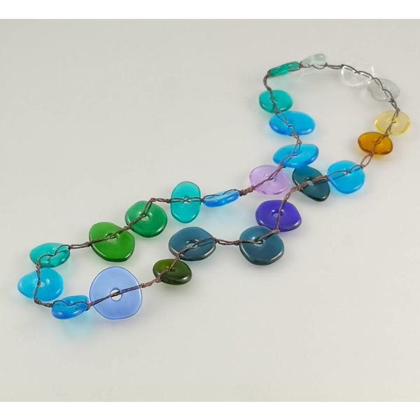 Colourscape pebble necklace blues 13