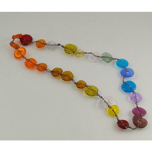 Kim Bramley Colourscape pebble necklace rainbow 14