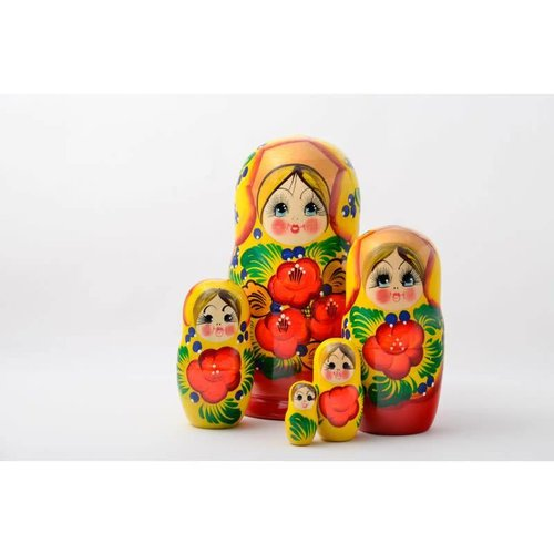 Russian Gifts 5 Nesting Martyoshka Doll Large 02