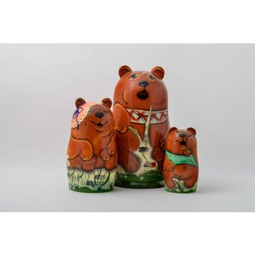 Russian Gifts 3 Bears Nesting Martyoshka Doll  Medium 05