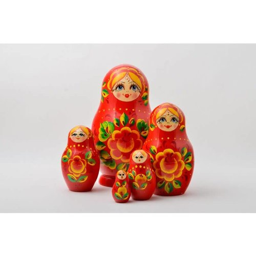 Russian Gifts 5 Nesting Martyoshka Doll Medium 06
