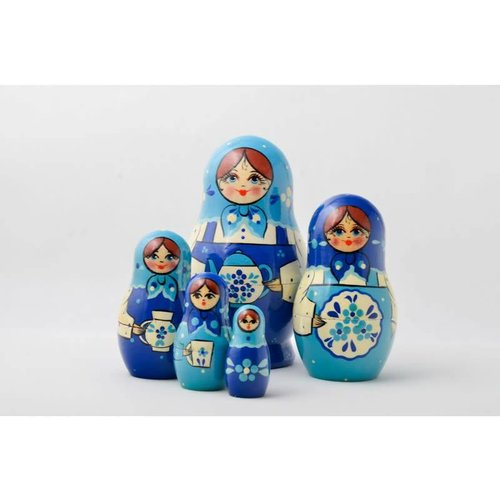 Russian Gifts 5 Nesting Martyoshka Doll Medium 07