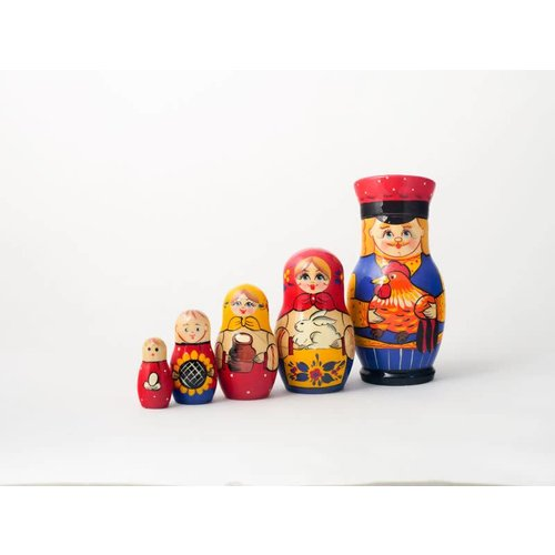 Russian Gifts 5 Nesting Martyoshka Doll Medium 08