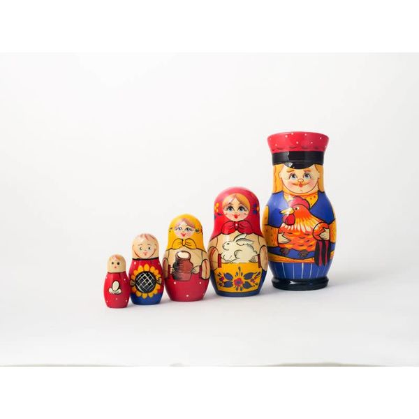 5 Nesting Martyoshka Doll Medium 08