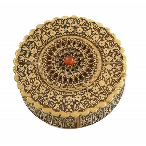 Russian Gifts Birkenrindenbox flach Rose Design 19