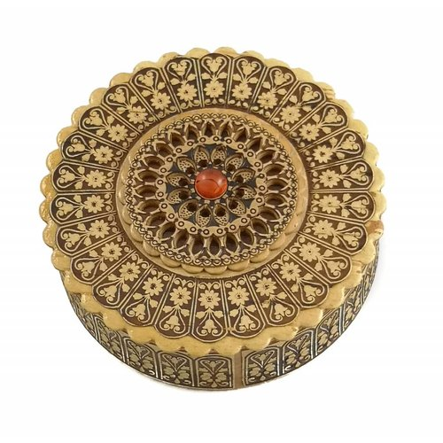 Russian Gifts Caja de corteza de abedul plana Rose design 19