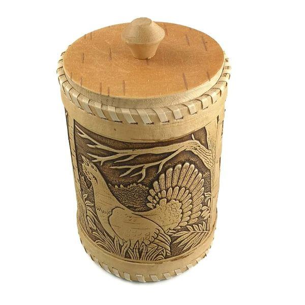 Tall Birch bark box Capercaillie 20