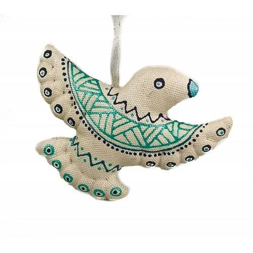 Kosa Deresa Pájaro de hada hecho a mano decoración.