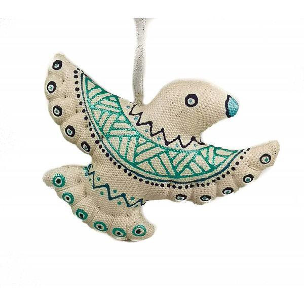 Pájaro de hada hecho a mano decoración.