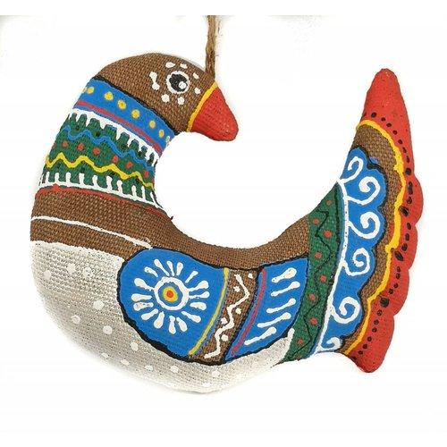 Kosa Deresa Pájaro folklórico hecho a mano decoaration
