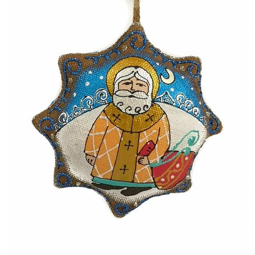 Kosa Deresa St Nicholas hand made decoration