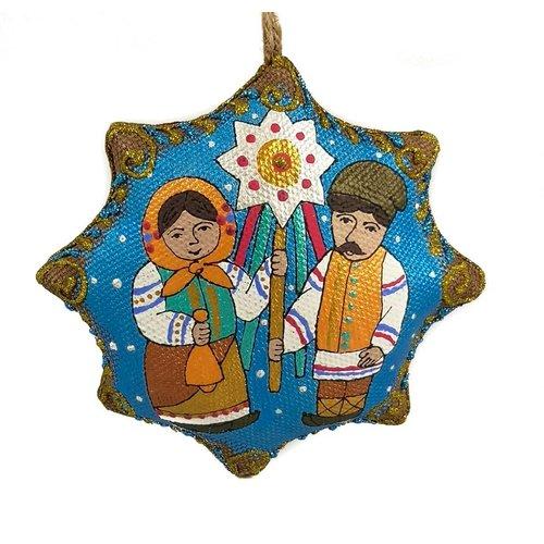 Kosa Deresa Decoración navideña hecha a mano.