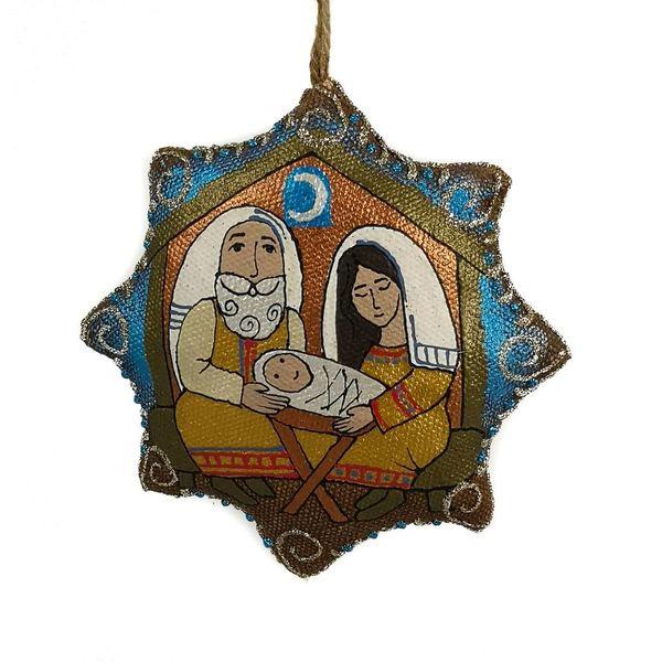 Natividad hecha a mano decoración.