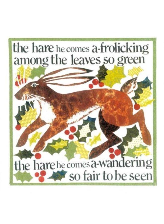 Leaves So Green von Helen Brown x5 Weihnachtskarten 140x140mm