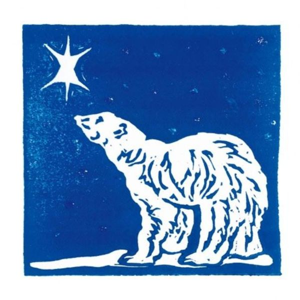 Star Gazing by Sarah Cemmick x5 Xmas Charity cards 140x140mm