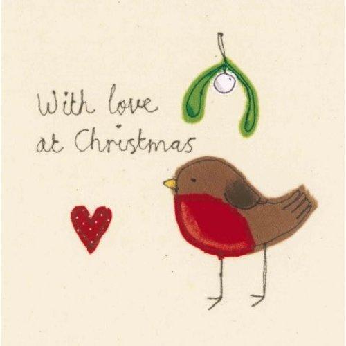 Artists Cards Weihnachtsküsse von Sophie Harding x5 Xmas Charity-Karten 140x140mm