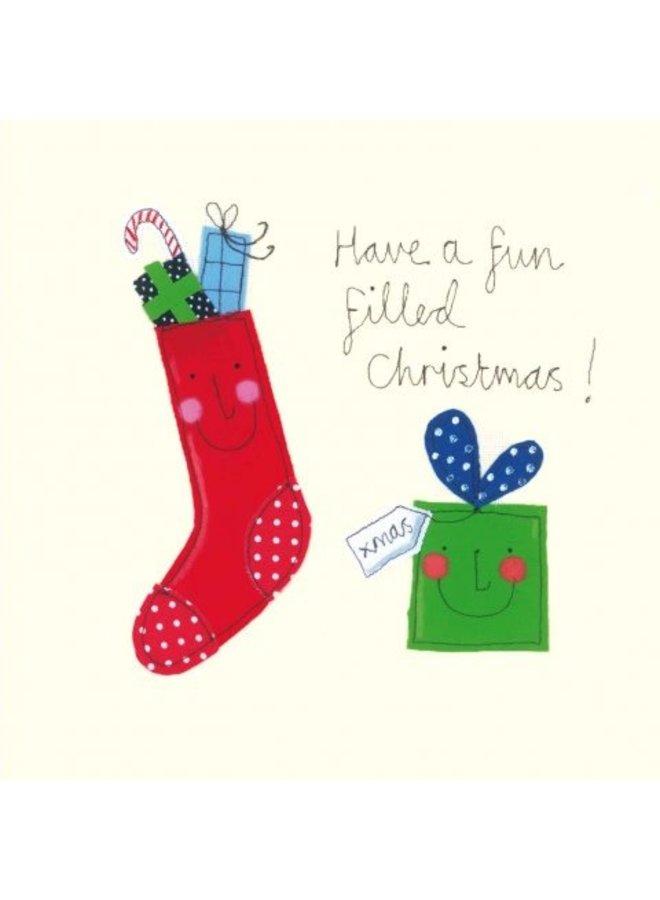 Fun Filled Chrismas von Sophie Harding x5 Xmas Charity-Karten 140x140mm