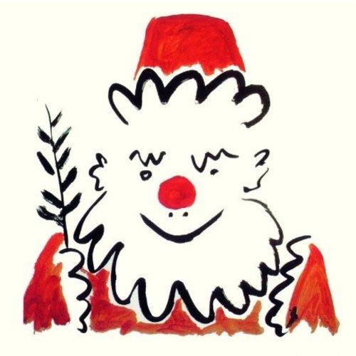 Artists Cards Weihnachtsmann von Picasso x5 Xmas Charity Karten 140x140mm