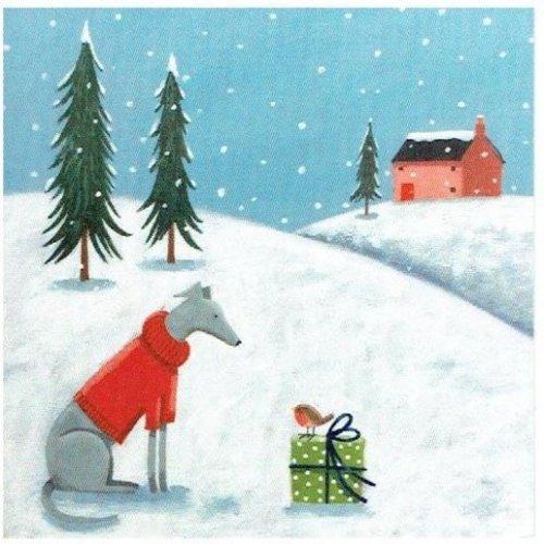 Artists Cards Cálidos deseos de Sohpie Harding x5 tarjetas de Navidad de caridad 14 cm x 14 cm