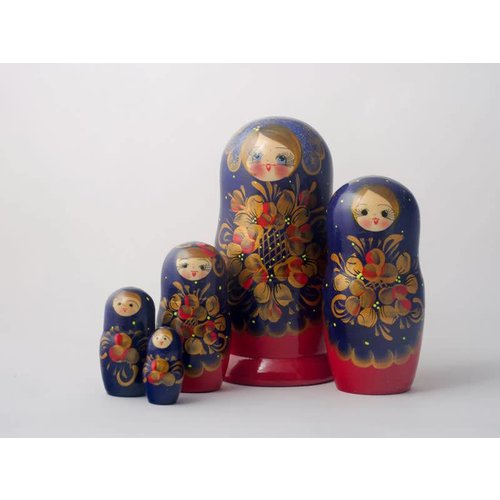 Russian Gifts 5 Nesting Martyoshka Doll Large  01