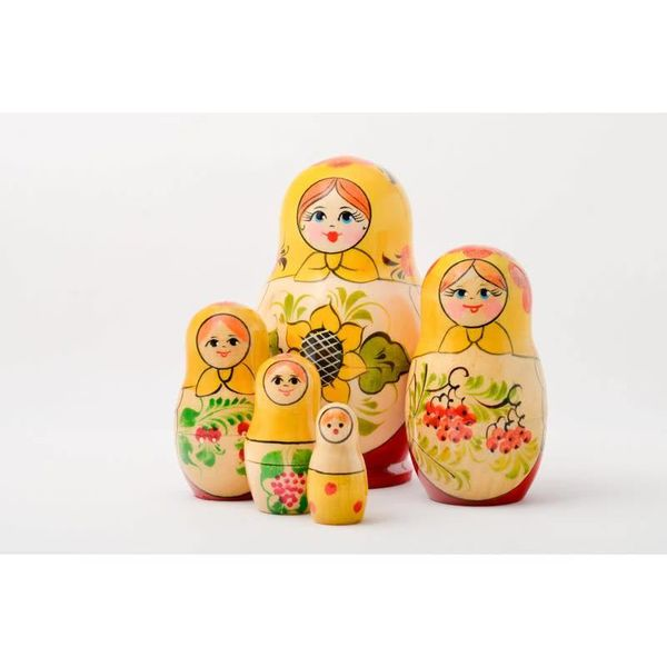 5 Nesting Martyoshka Doll  Small 09