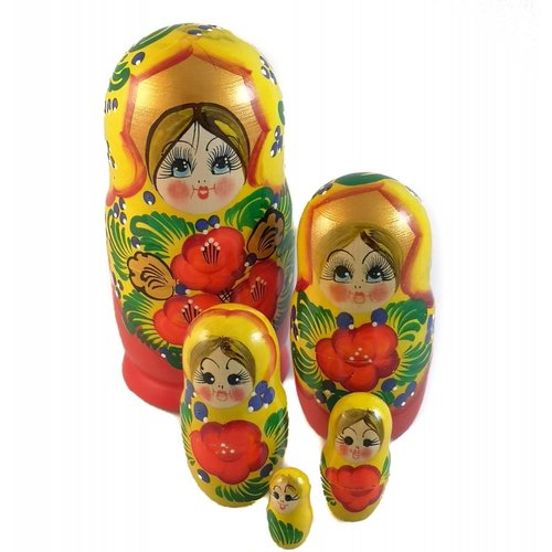Russian Gifts 5 Nesting Martyoshka Doll Large 22