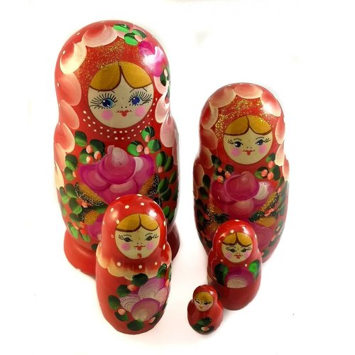 Russian Gifts 5 Nesting Martyoshka Doll Large 23